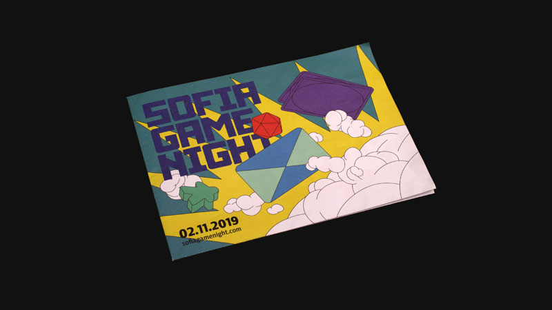 studio PUNKT, Sofia Game Night, illustration, drawing, key visual, brochure